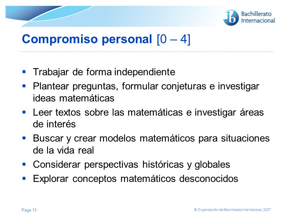 Compromiso personal [0 – 4]